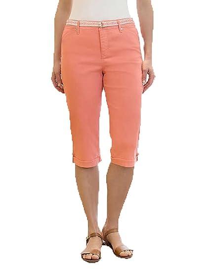 9070f2a89e0 Gloria Vanderbilt Women's Lillian Belted Skimmer Capri (14, Bright  Hibiscus) at Amazon Women's Clothing store: