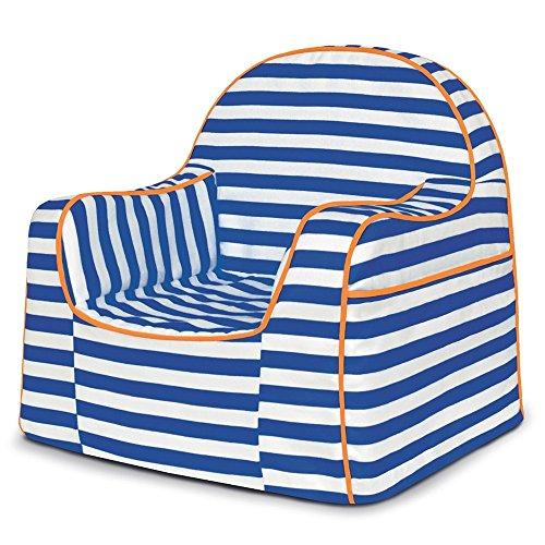 - P'Kolino Little Reader Chair, Stripes Blue