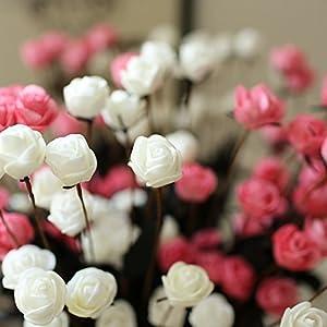 15 Heads Artificial Spring Silk Flowers Camellia Magnolia Floral Wedding Peony Arrangement Bouquet Hydrangea (5 Pcs) 2