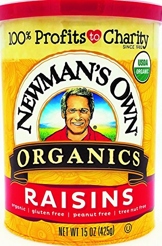 Newman's Own Organics Organic California Raisins, 15-Ounce Cans (Pack of 6)