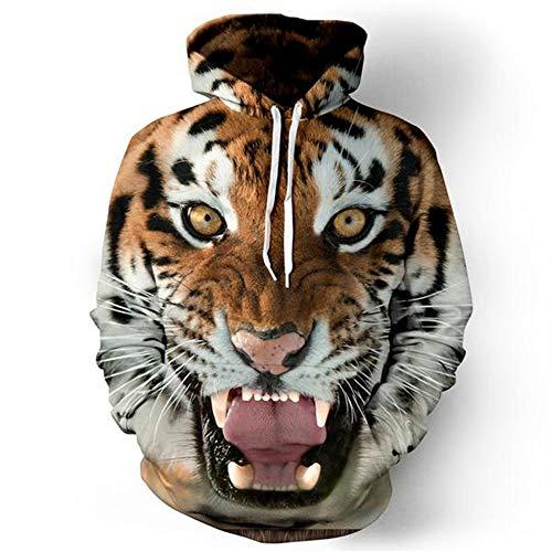 Tigers Womens Hoodie Sweatshirt - Tiger Printed 3D Hoodie for Women Men, Sweatshirt Cartoon Clothes with Pockets 3D Pullover Hoodie (tiger3, S/M)
