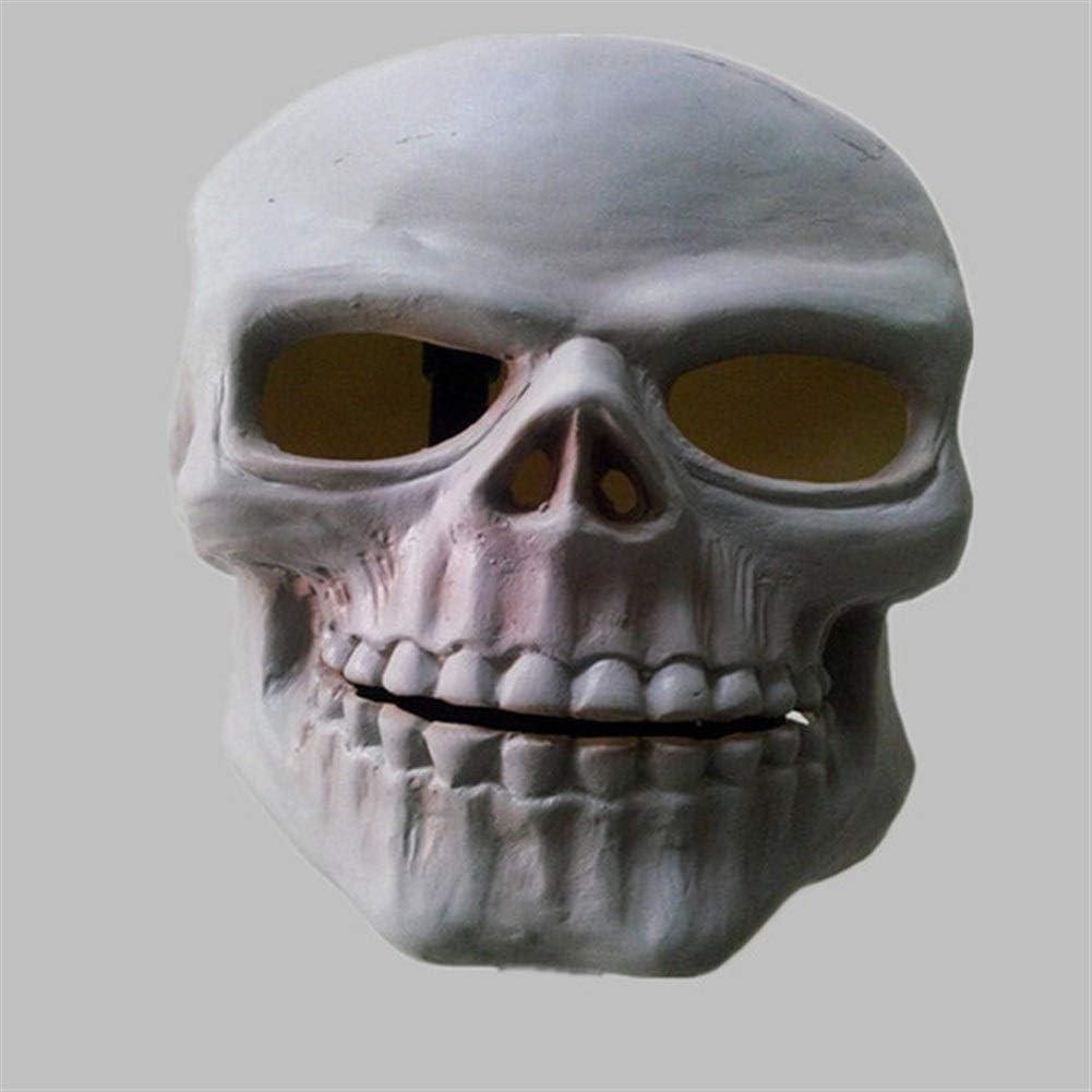 Rcsinway Horror de Halloween tocados Halloween Halloween máscara de protección del Medio Ambiente los Casquillos del cráneo máscara de Calavera Tricky (Color : White)