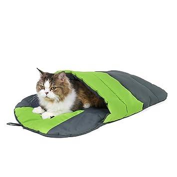 Ohana - Saco de Dormir para Gatos (Forro Polar, Suave, cálido, Lavable, para Gatos o Cachorros, 20 x 20 cm): Amazon.es: Productos para mascotas