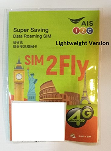 AIS Sim2Fly 4 GB non-stop internet for 15 days in Europe, Middle East, Canada by AIS (Image #1)