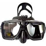 T.Face Top Scuba Diving Mask For Gopro Hero 5 XIAO MI YI 4K SJ CAMERAS Black Silicone Diving Mask For Adult Diving Snorkel Scuba Masks