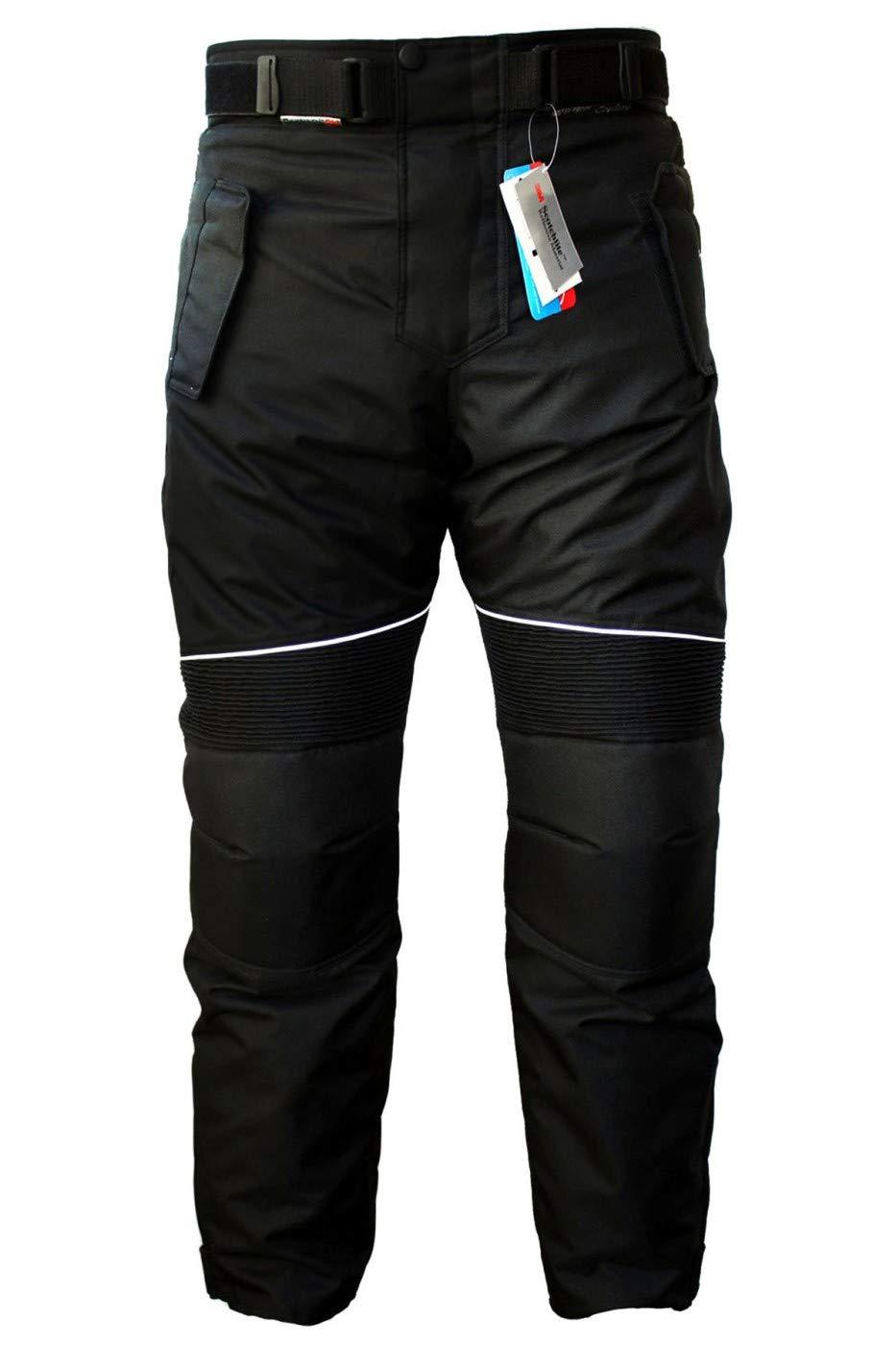 German Wear - Pantaloni da Uomo per Moto Cordura, Nero, 54 EU GW350T Schwarz 54