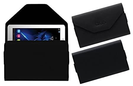 Acm Pouch Case Compatible with Unic Uc40 U1 Tablet Flip Flap Cover Black Bags,Cases   Sleeves