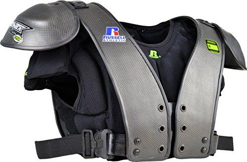 Russell Carbon Tek Football Shoulder Pads, Black - (Black Football Shoulder Pads)