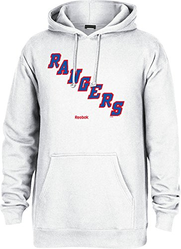 NHL New York Rangers Men's Jersey Crest Pullover Hoodie, Large, White