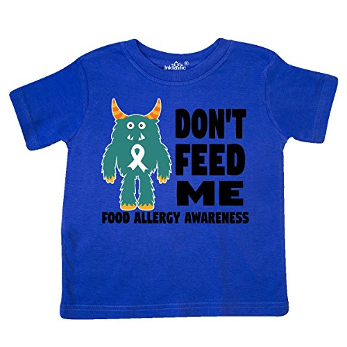 inktastic - Dont Feed Me with Monster Toddler T-Shirt 5/6 Royal Blue 29daf