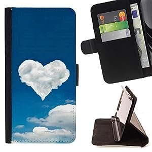 For Samsung Galaxy S3 Mini I8190Samsung Galaxy S3 Mini I8190 - Cloud heart /Funda de piel cubierta de la carpeta Foilo con cierre magn???¡¯????tico/ - Super Marley Shop -