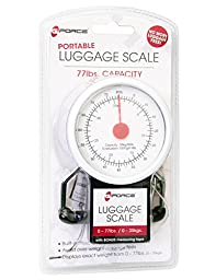 G-Force Portable Luggage Scale with Tape Measure Holds up to 77 LBS