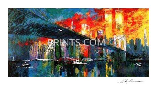 LeRoy Neiman - Brooklyn Bridge Hand Signed by LeRoy Neiman Last Ones! ()