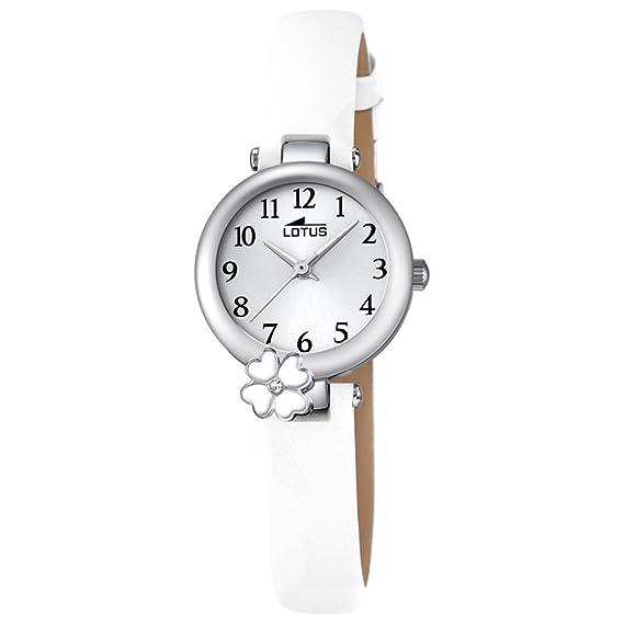 Lotus Reloj Analógico para Niñas de Cuarzo con Correa en Cuero 18267/1: LOTUS: Amazon.es: Relojes