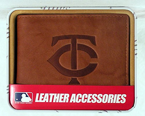 (Rico Minnesota Twins Embossed Leather Billfold Wallet)