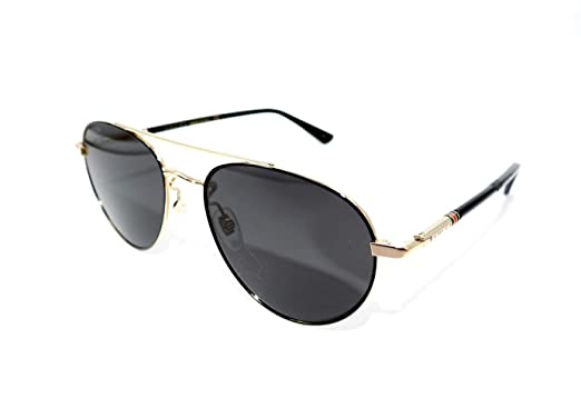 43a7ef0388b Image Unavailable. Image not available for. Color  Authentic GUCCI Gold  Black Aviator Sunglasses ...