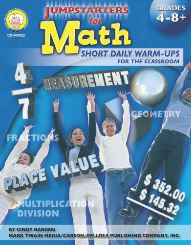 Jumpstarters for Math, Grades 4 - 12