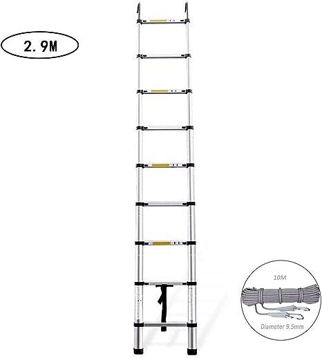 XUENUO Escalera Telescópica, Escalera Telescopica2.9M, Extensión Telescópica De Aluminio Escalera Alta Multifuncional para Loft Al Aire Libre Casa: Amazon.es: Deportes y aire libre