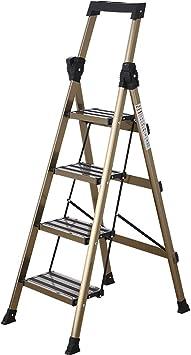 Escaleras Escalera plegable de aluminio de 4 escalones for el hogar, Taburete for escalones, Ampliación del pedal - Pedal antideslizante, Escalera multiuso Carga de 150 kg - Fácil de almacenar/trans: Amazon.es: Bricolaje