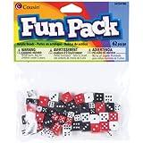 Cousin Fun Packs 62-Piece 8mm-10mm Dice Beads