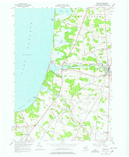 YellowMaps Pulaski NY topo map, 1:24000 Scale, 7.5 X 7.5 Minute, Historical, 1956, Updated 1978, 27 x 22.1 in - Paper