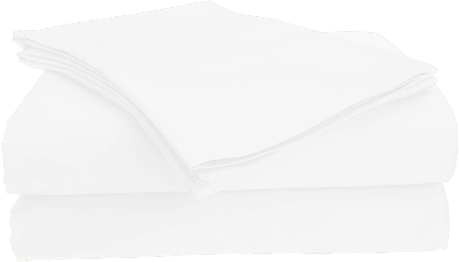 Posh Home 100% Cotton Breathable Double Brushed 4 Piece Sheet Set Softest Sheets Ever (White, King)