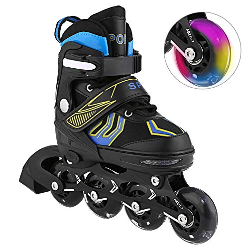 WeSkate Inline Skates Roller Shoes with Adjustable Size and Light up Wheel Fun Flashing for Boys Girls Toddlers Kids Children