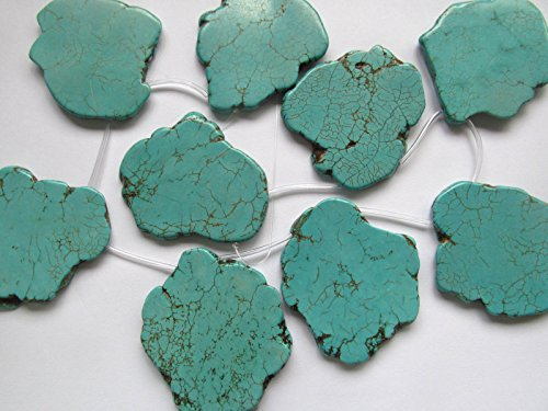 Top Drilled-50-80mm Turquoise Gemstone Green blue turquoise freeform slab beads Nugges Turquoise Pendant turquoise jewelry