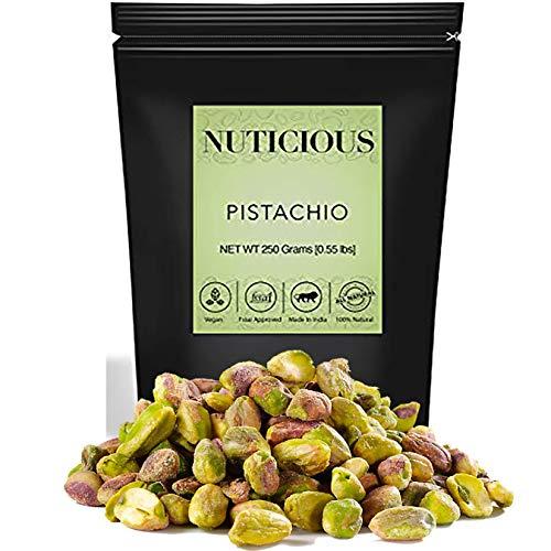 NUTICIOUS Jumbo Pistachio Kernals (Pista)250 Ge (Gourmet Vegan Food Premium Quality)