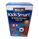 BioGlan Kids Smart Hi DHA Omega-3 Fish Oil, Chewable Burstlets, Berry 30 ea (3-pack) Review