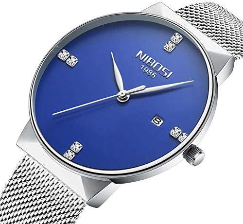 女性と男性の腕時計高級メッシュバンド防水ドレス腕時計高品質クォーツ時計