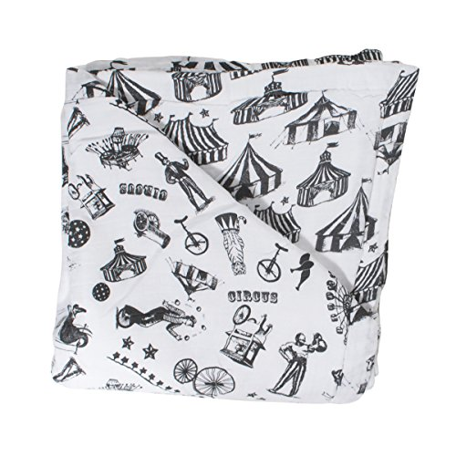 Bebe au Lait Oh So Soft Muslin Snuggle Blanket, Circus and Big Tops