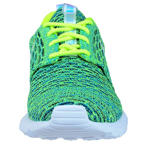 NIKE Women's Roshe NM Flyknit QS Running Shoes Volt/Metallic Sliver/Voltage Green latest collections for sale free shipping great deals professional for sale 3o8AphAtDK