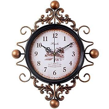 WERLM Los creativos Decoración de Pared Reloj de Pared Simple salón salón Relojes Reloj de Pared Reloj de salón 14.: Amazon.es: Hogar