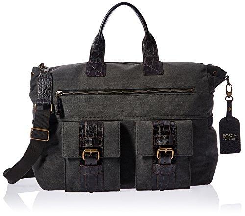 - Bosca Field Collection - Excursion Bag Duffel Bag Gray w/Dark Brown