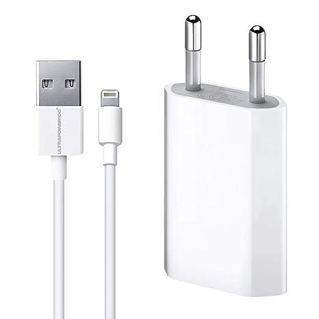 ultrapower100® Cargador de batería compatible con iPhone 1A 5 W ...