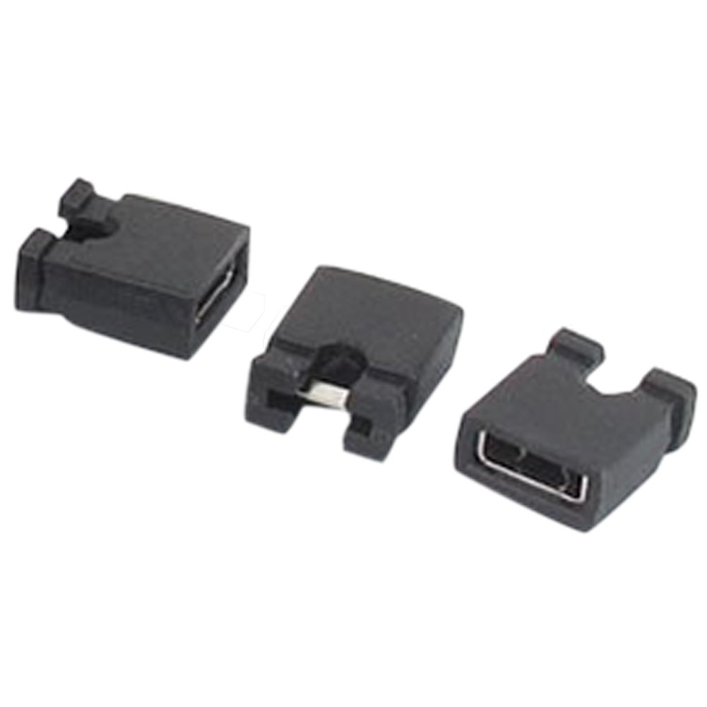 SODIAL 120 Pcs 2.54mm Standard PCB Shunts Short Mini Jumper Cap Connector