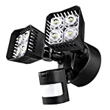 Upgraded SANSI LED Security Motion Sensor Outdoor Lights, 30W (250W Incandescent Equivalent) 3400lm, 5000K Daylight, Waterproof Floodlight, Black