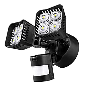 8. RuggedGrade - LED Floodlight with Motion Sensor- Solar floodlight - solar flood lights outdoor