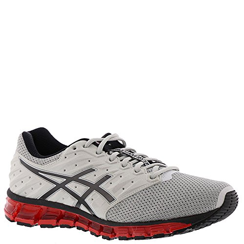 ASICS Mens Gel-Quantum 180 2 MX Running Shoe, Glacier Grey/Phantom/Fiery Red, Size - Com Mx