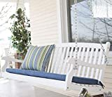 Traditional Country White Hardwood Slatted Patio Porch Swing 4 Foot Review