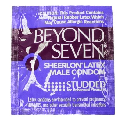 Beyond Seven Studded The Thinness & Strength of Sheerlon Latex Condoms