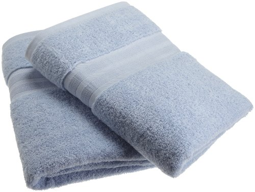 100% Organic Cotton Luxury Bath Towel- Made Here by 1888 Mills (2pk) (100 Percent Cotton Towels Made In Usa)