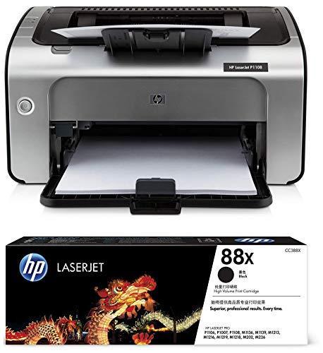 HP Laserjet P1108 Single Function Monochrome Laser Printer  amp; HP 88X Toner  Black