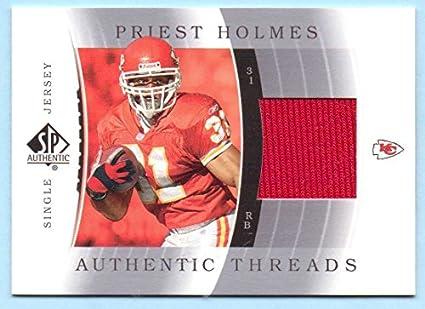 eb71a2f62b2 Priest Holmes 2003 SP Authentic Threads Game Worn Jersey - Kansas City  Chiefs
