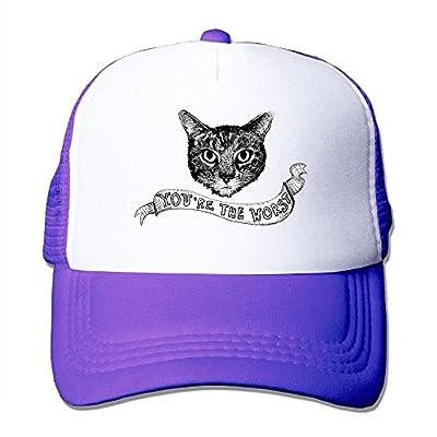 Worst Cat Sports Snapback Stylish Baseball Cap Mesh Trucker Hat from Huishe1