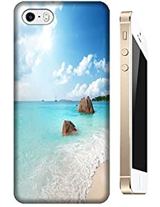 Beautiful Beach Sunshine Sea Water Clean White Cloud Design For iPhone 5/5S New Style 13