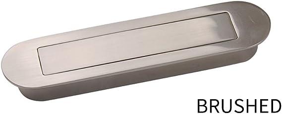 Meticulosa aleación de zinc Flush empotrada Puerta Corredera pomos tirador ovalado asas oculta oculta Tatami puerta soporte de placa: Amazon.es: Bricolaje y herramientas