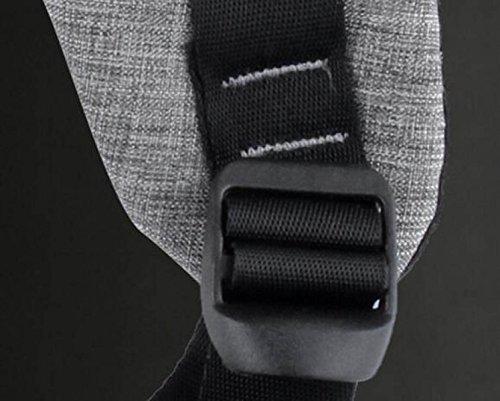 Mochila Hombres Informales Robo De Carga Grey De Para UBS Ordenador Mochila Negocios De Viaje Bolsa Estudiantes Y Anti Bolsa Mujeres Bolsa Bolsa gqO58En