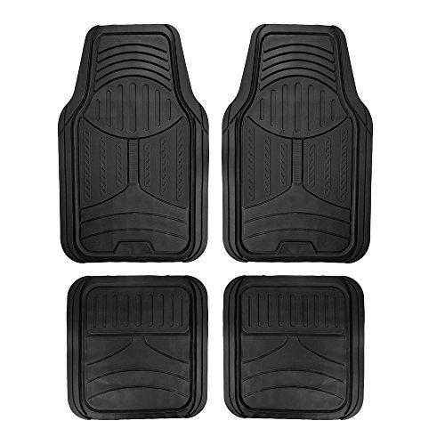 FH Group F11313 Monster Eye Full Set Rubber Floor Mats, Solid Black Color- Fit Most Car, Truck, SUV Van (Chevrolet Cavalier Carpet)